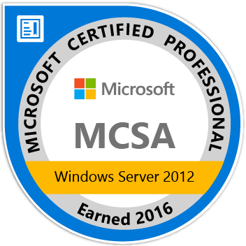 MCSA Windows Server 2012 Zertifikat